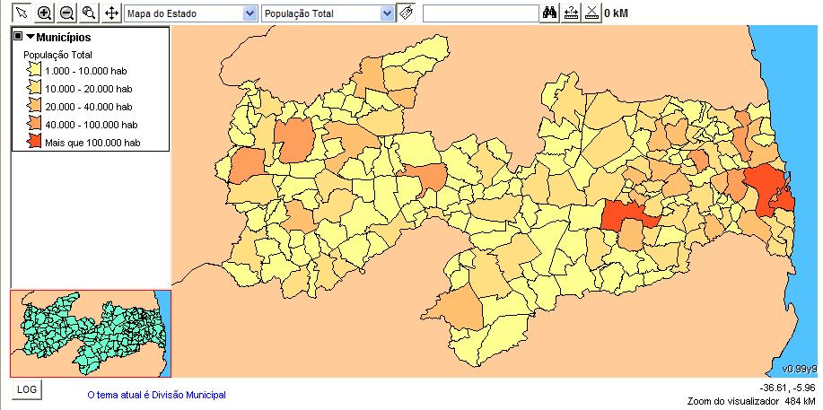 Mapa Temático Quantitativo