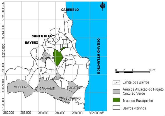 Localização do Projeto Cinturão Verde