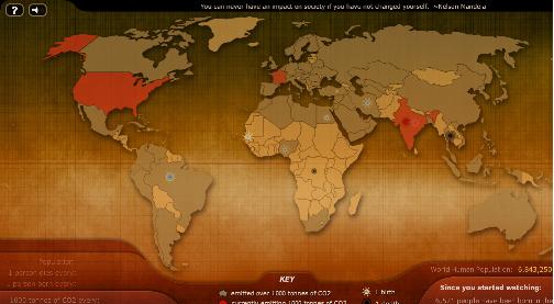 WebMapping sobre Nascimentos, Mortes e Emissão de Dióxido de Carbono