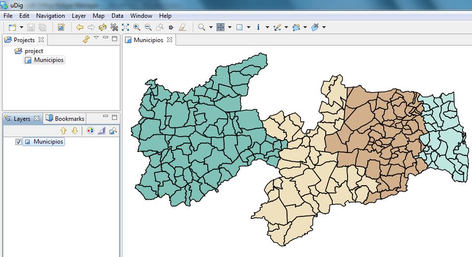 Mapa Temático no uDig 1.2.0