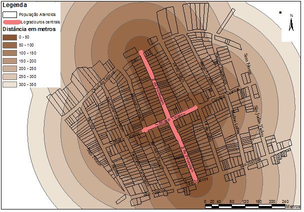 Análise de proximidade/Mapa de distâncias às principais vias de acesso