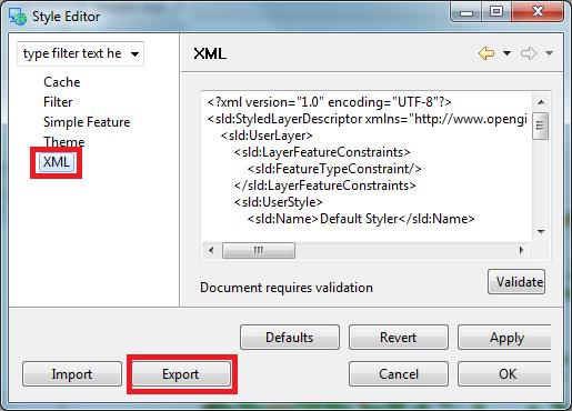 XML - Export