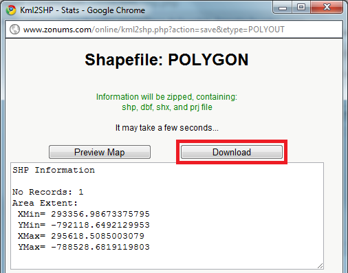 Download do Shapefile