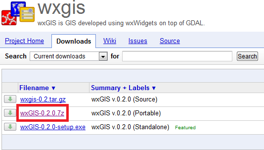 Download wxGIS