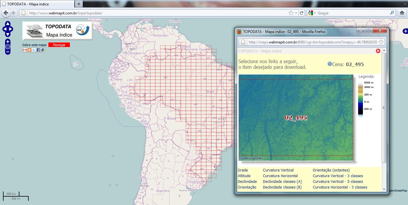 Mapa índice TOPODATA