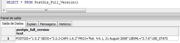 Com qual versão do PostGIS estou trabalhando?