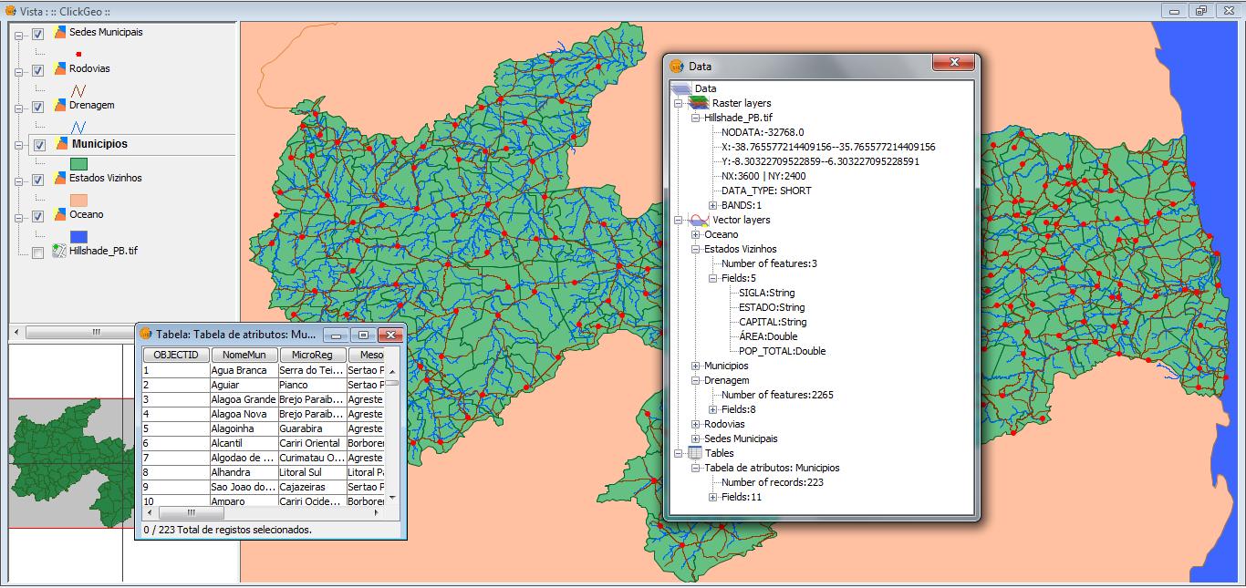 Explorando a Função DATA no gvSIG