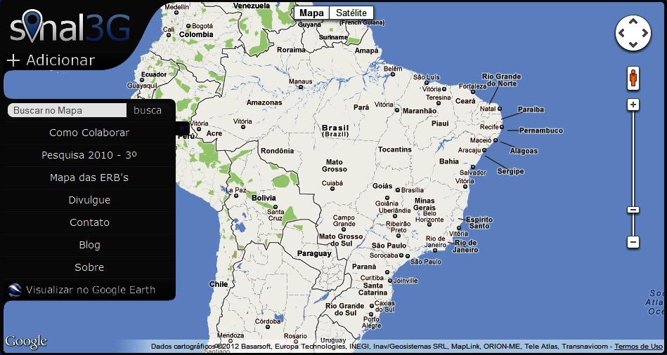 Mapa 3G