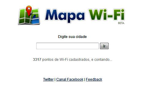 Wi-Fi no Mapa