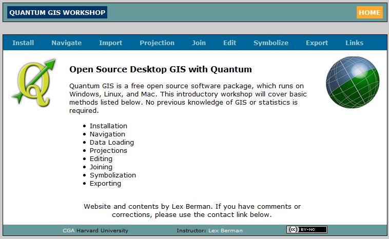 Curso Online de Quantum GIS