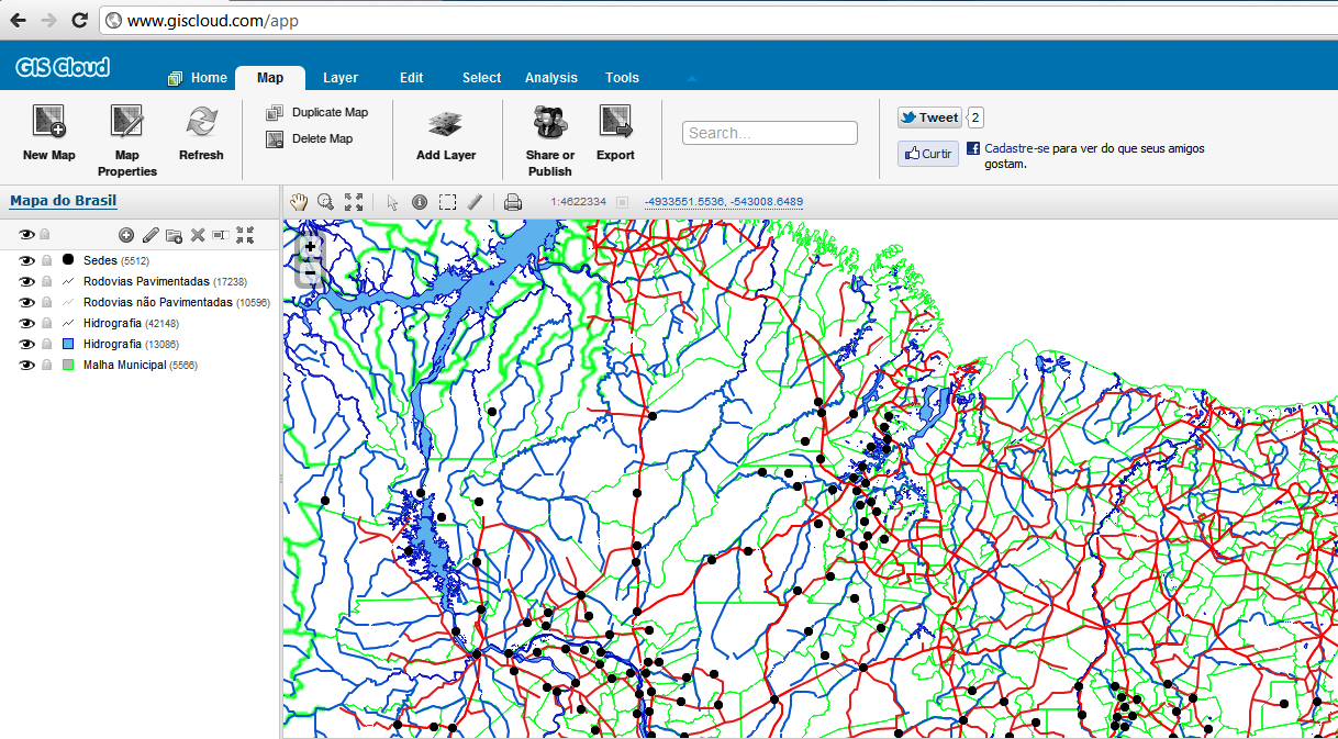 GIS Cloud – SIG via Web