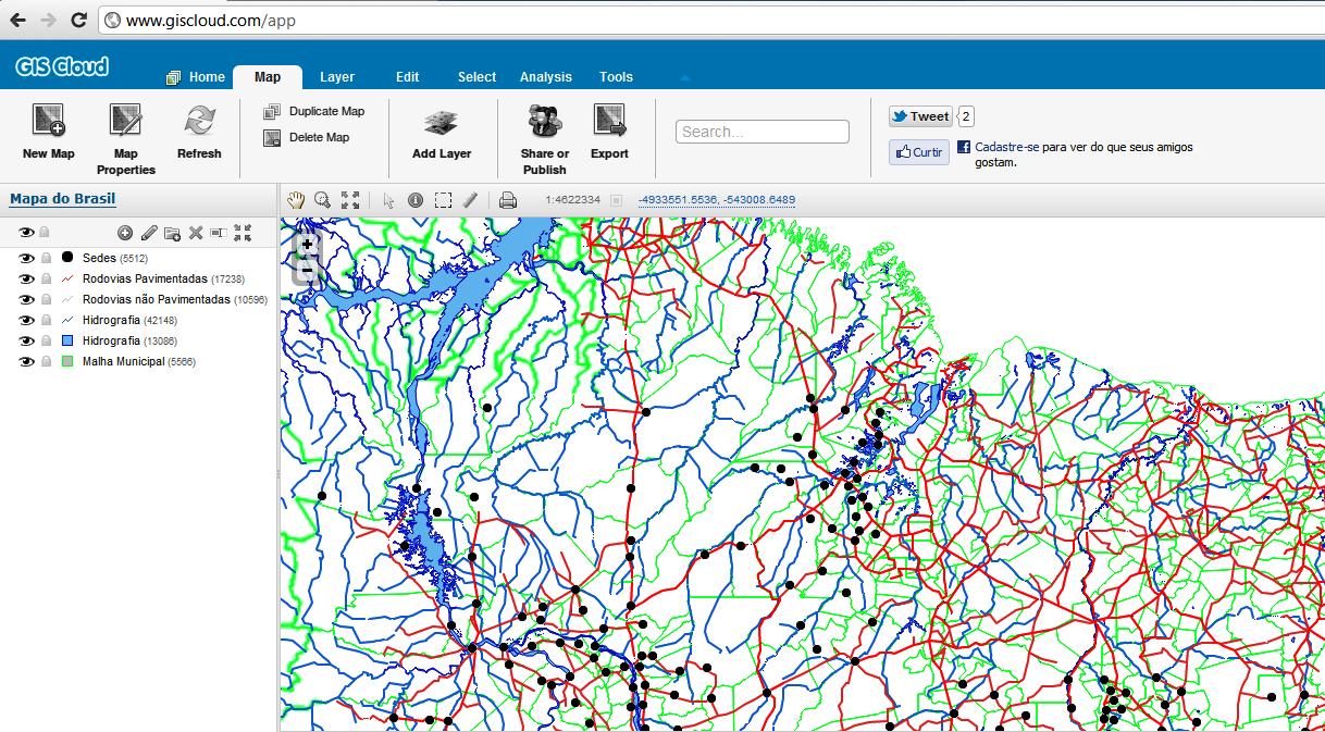 GIS Cloud – SIG via Web