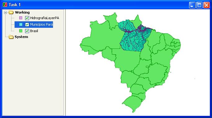 Dados Visualzados no JUMP