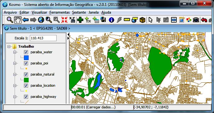 Dados OpenStreetMap do Brasil no Formato Shapefile no Kosmo GIS