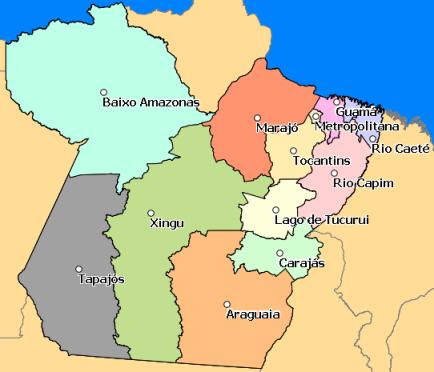 Mapa Temático - Regiões de Integração