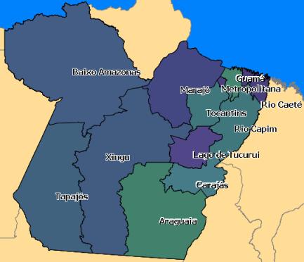 Pará - Regiões de Integração