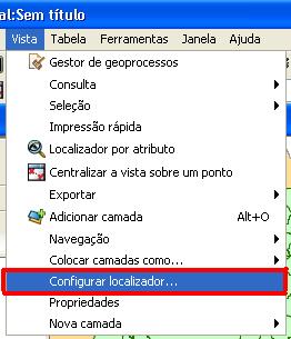 Vista - Configurar Localizador