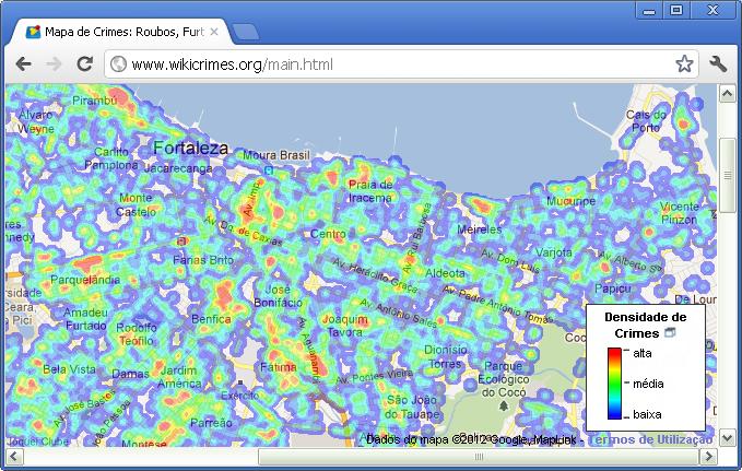 Mapas de Kernel – WIKICRIMES
