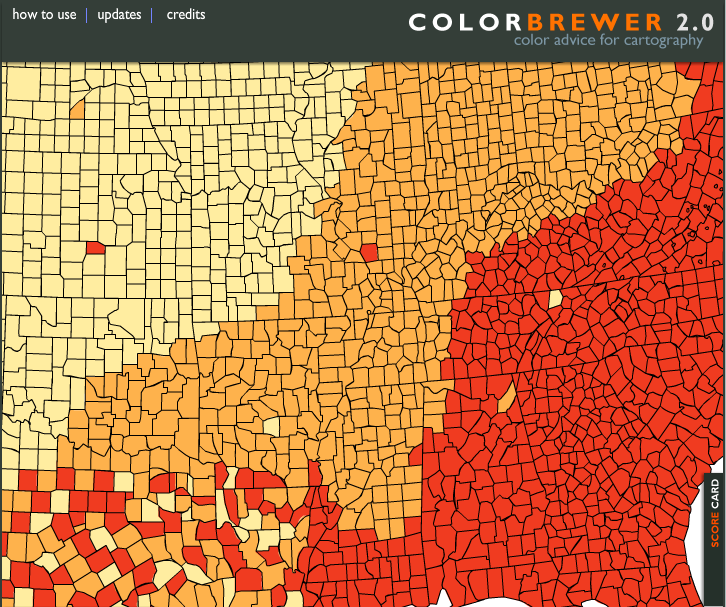 COMO USAR O COLORBREWER