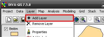 Diva-GIS: Adicionar Layer